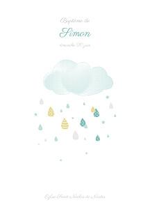 Livret de messe Tombe la pluie bleu