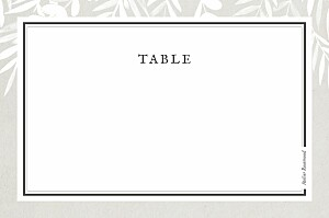 Marque-table mariage Feuillage gris