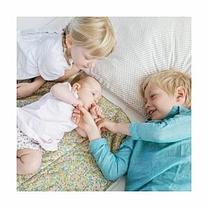 Carte de remerciement jaune petit lovely family photo mixte