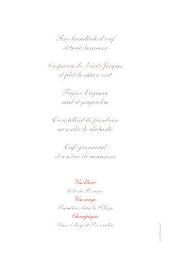 Menu de baptême Cerisiers en fleurs rose - Page 2