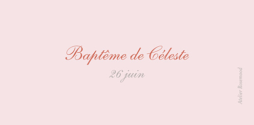 Marque-place Baptême Cerisiers en fleurs rose - Page 3