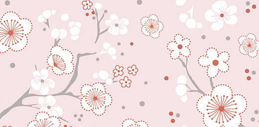 Marque-place Baptême Cerisiers en fleurs rose - Page 4