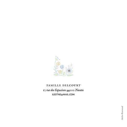 Faire-part de naissance Douceur champêtre 4p (dorure) bleu