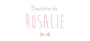 Etiquette perforée baptême Lovely kid rose