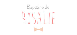 Etiquette de baptême Lovely kid rose