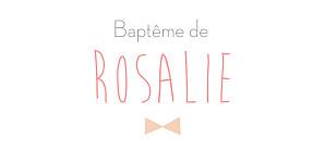 Etiquette de baptême rose lovely kid rose