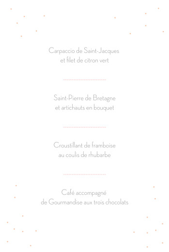 Menu de baptême Lovely kid rose - Page 3