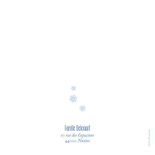 Faire-part de naissance Petites montagnes jumeaux bleu - Page 4