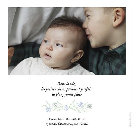 Faire-part de naissance Douceur champêtre rv (dorure) bleu - Page 2
