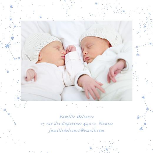 Faire-part de naissance Univers 4 photos (triptyque) bleu