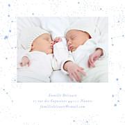 Faire-part de naissance Univers 4 photos (triptyque) bleu page 5