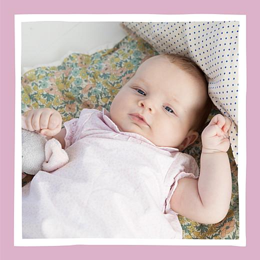 Faire-part de naissance Petite coquette (triptyque) rose