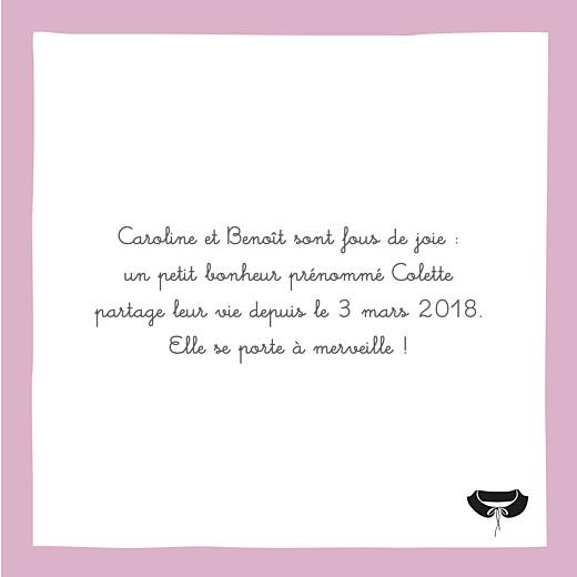 Faire-part de naissance Petite coquette (triptyque) rose - Page 2