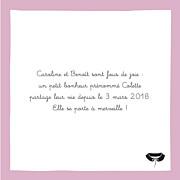 Faire-part de naissance Petite coquette (triptyque) rose page 2