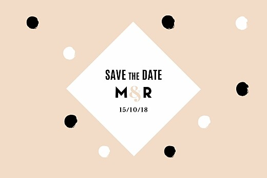 Save the Date La vie en rose (dorure) rose