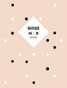 Faire-part de mariage La vie en rose (dorure) rose