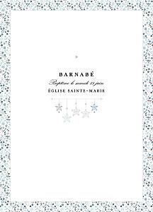 Livret de messe classique liberty origami étoiles bleu