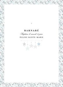 Livret de messe Liberty origami étoiles bleu