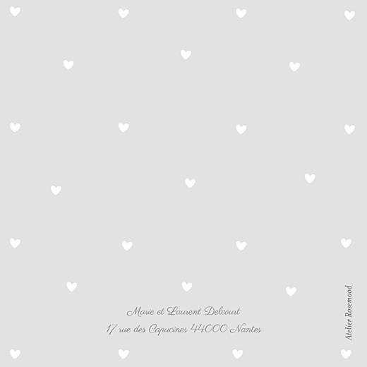 Faire-part de naissance Bucolique triptyque gris rose