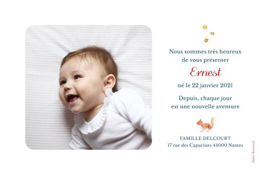 Faire-part de naissance Conte d'hiver photo paysage rv bleu - Page 2