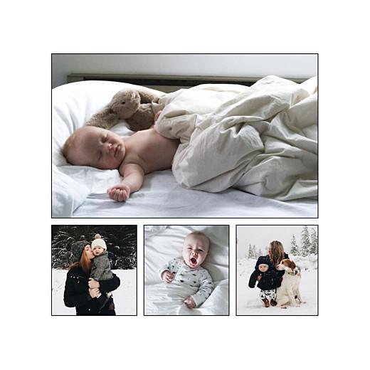 Faire-part de naissance Promesse d'hiver 4 photos blanc - Page 2