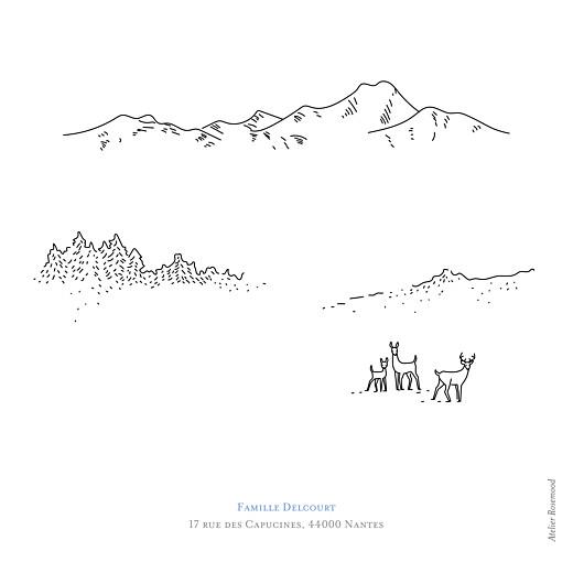 Faire-part de naissance Promesse d'hiver 4 photos blanc - Page 4