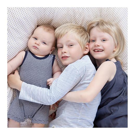 Faire-part de naissance Logo 6 photos bleu - Page 2