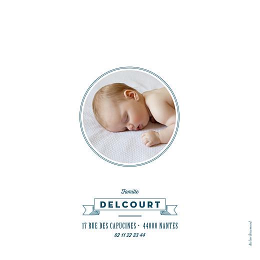 Faire-part de naissance Logo 6 photos bleu - Page 4