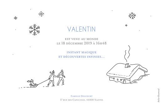 Faire-part de naissance Promesse d'hiver 3 photos rv blanc - Page 2