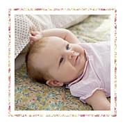Faire-part de naissance Liseré liberty (triptyque) rose page 4