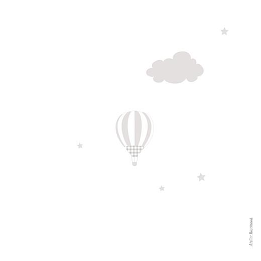 Faire-part de naissance Dans le ciel jumeaux (dorure) gris