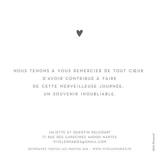 Carte de remerciement mariage Élégant cœur (dorure) blanc