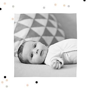 Faire-part de naissance Jolie môme photo (dorure) rose