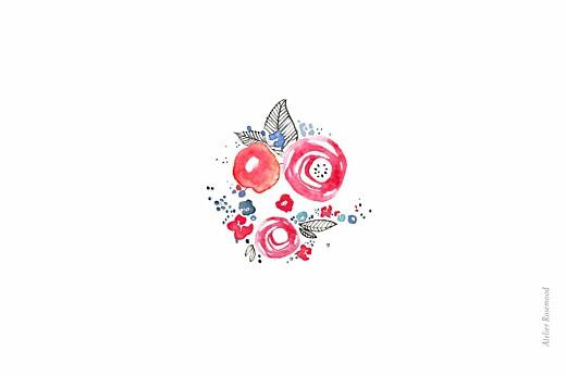 Carte de correspondance Fleurs graphiques blanc