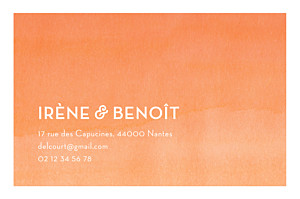 Carte de correspondance Aquarelle orange