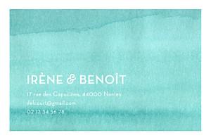 Carte de correspondance Aquarelle bleu
