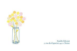 Carte de correspondance tous genres instant fleuri jaune