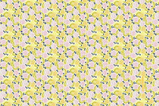 Carte de correspondance Instant fleuri jaune
