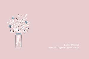 Carte de correspondance Instant fleuri rose