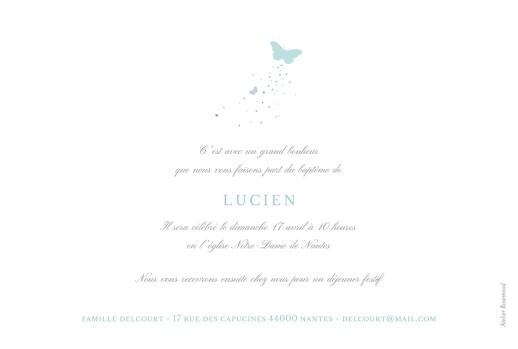 Faire-part de baptême Papillons photo bleu - Page 2