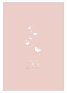 Livret de messe Papillons rose