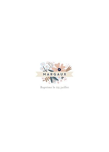 Livret de messe Ruban de fleurs blanc