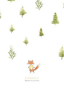 Livret de messe garçon renard aquarelle blanc