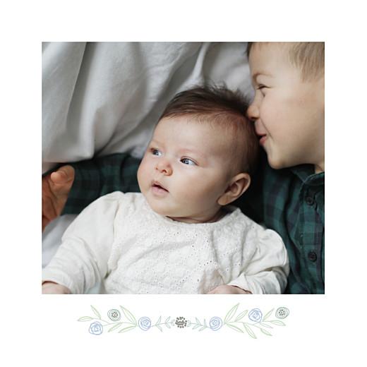 Faire-part de naissance Douceur champêtre 4p (dorure) bleu - Page 2