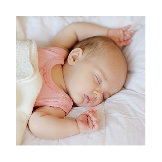 Faire-part de naissance Petit minois fille photo blonde