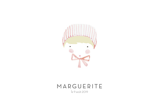 Faire-part de naissance Petit minois fille photo rv blonde