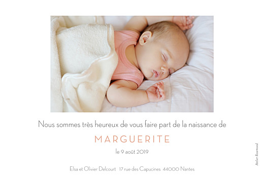 Faire-part de naissance Petit minois fille photo rv blonde - Page 2