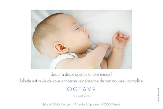 Faire-part de naissance Petit minois garçon photo rv blond