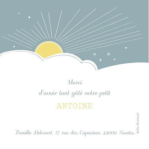 Carte de remerciement Merci sunshine photo jade - Page 2