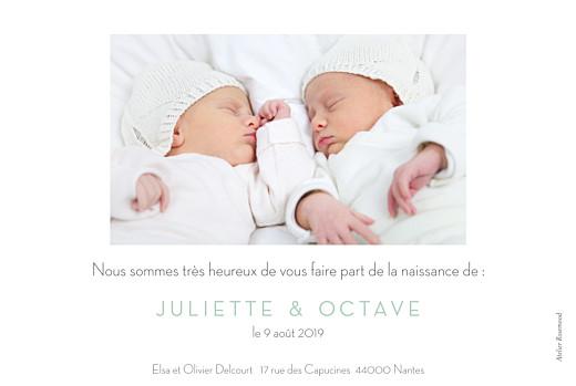Faire-part de naissance Petits minois jumeaux photo blonds - Page 2